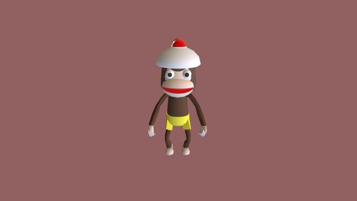 Pipo Monkey Ape Escape 3D Model