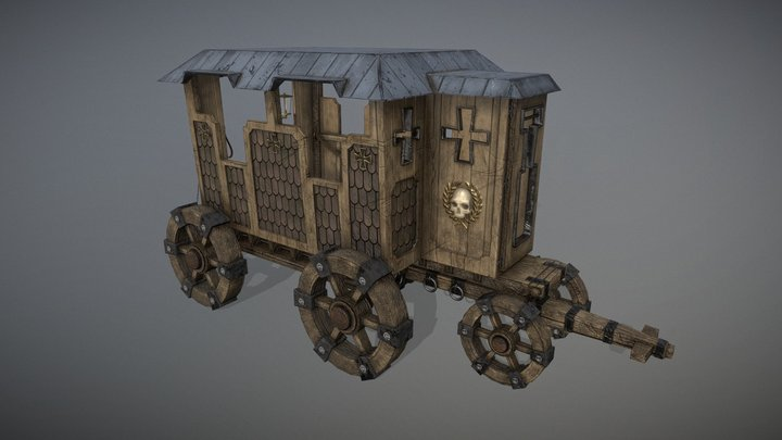 Warhammer: Vermintide Carriage 3D Model
