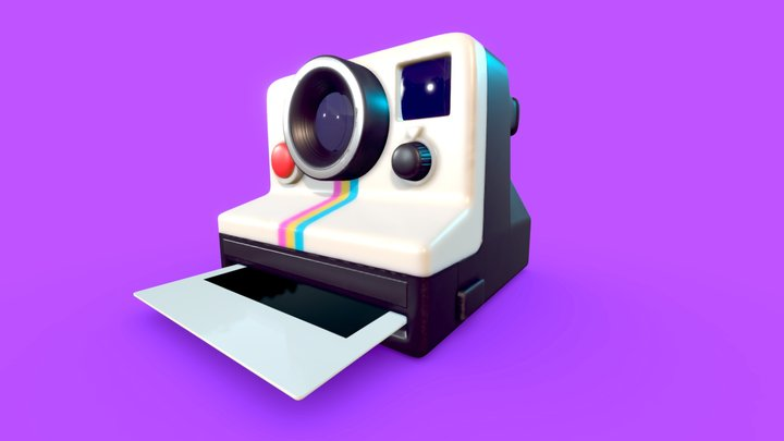 Retro Polaroid 3D Model
