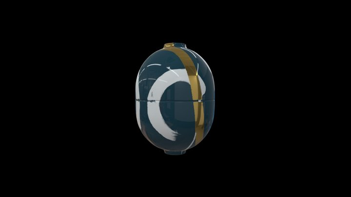 MARI JJ - Royal Green Egg Vessel 3D Model