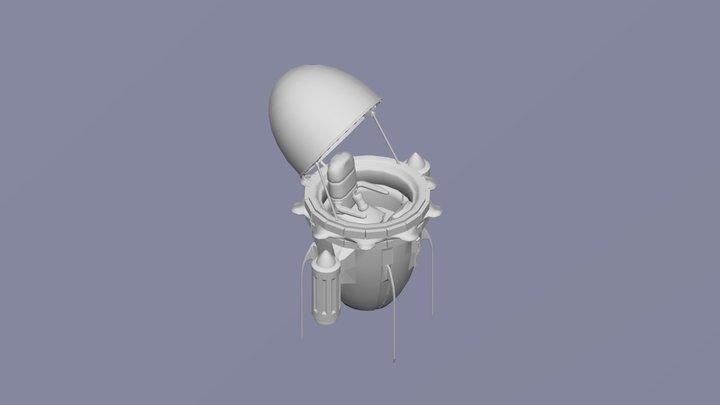 Future Trunks' Time Machine 3D Model