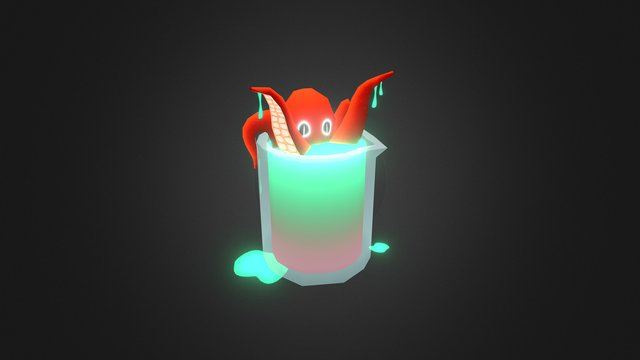 Friday500 - In The Science Lab (Lab Octopus) 3D Model