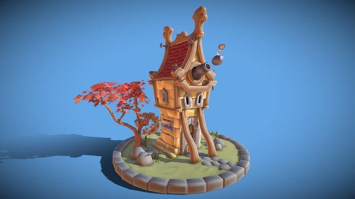 Cannon House 3D Model