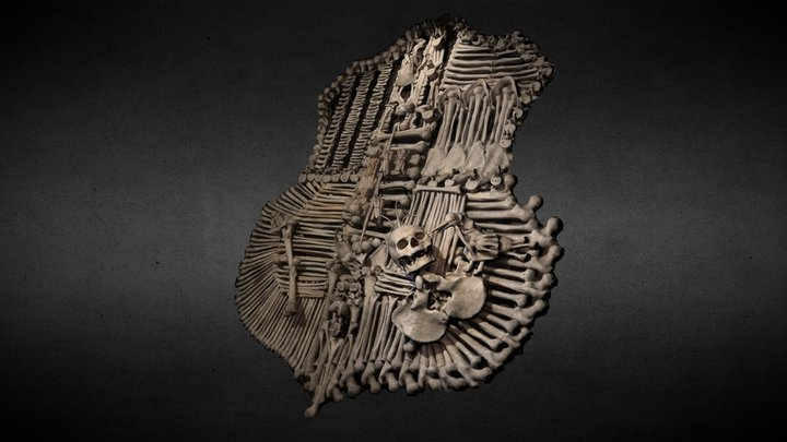 Coat of arms of Schwarzenberg - Sedlec Ossuary 3D Model