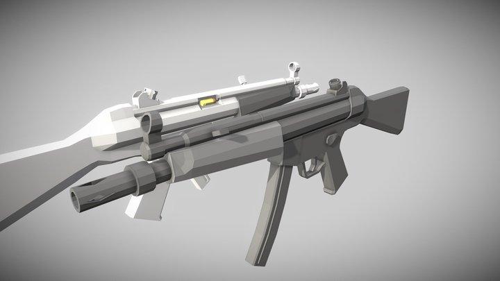 「Low Poly」MP5 Final 3D Model