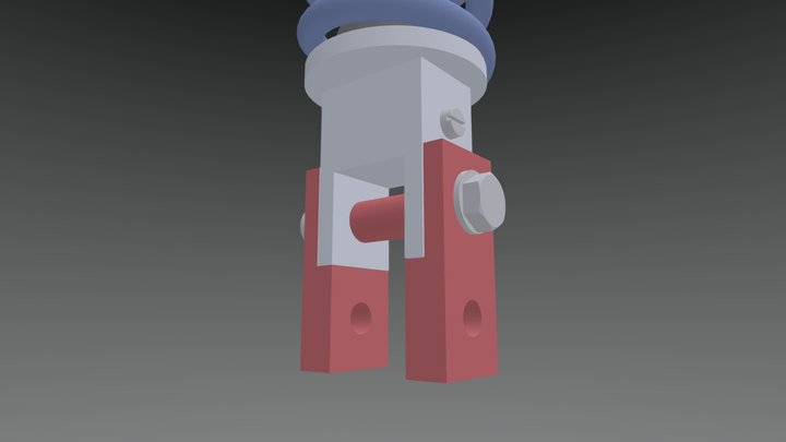 Rear Shock Absorber DL 650 3D Model