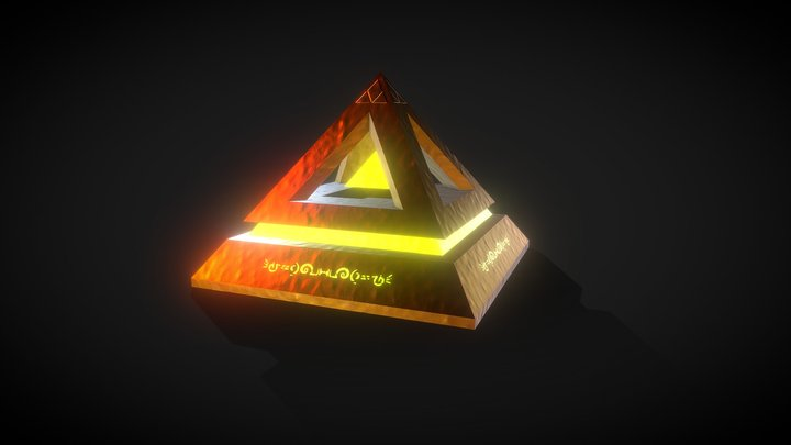Mystical Ancient Pyramid Artifact 3D Model