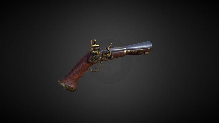 Flintlock musket 3D Model