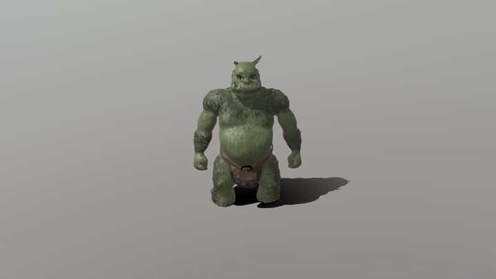 My Second Project: Orc Game Character for Unity 3D Model
