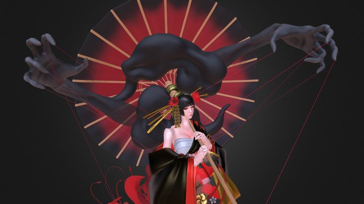 Feudal Japan : The Shogunate  ・  The Geisha 3D Model