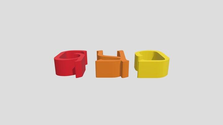 ADLAM FONT 3D Model