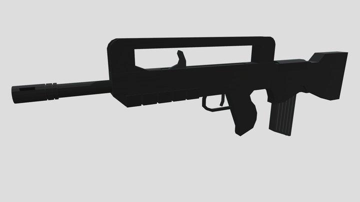 Low Poly Famas 3D Model