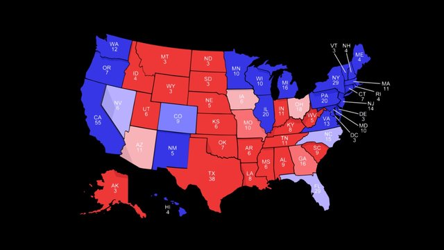 2016 U.S. Presidential Election - 3D Atlas 3D Model