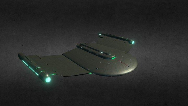Romulan Gallant Wing Class Cruiser 3D Model