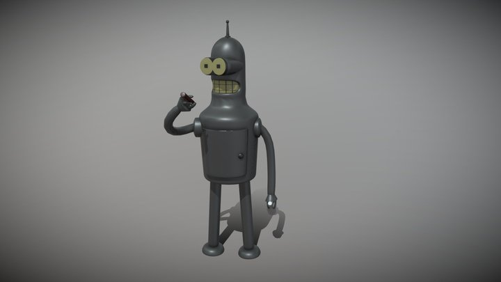 Bender Fan Art 3D Model