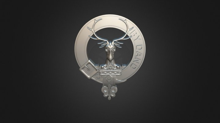 Clan Gordon Crest 3D Model
