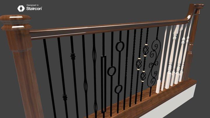 balustrade example 3D Model