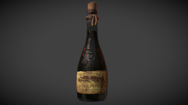 Red Wine - Boasting Flavor! 3D Model