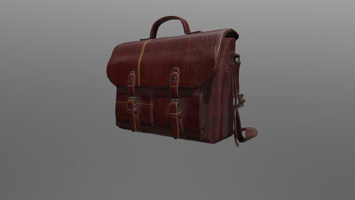 Vintage Satchel Bag 3D Model