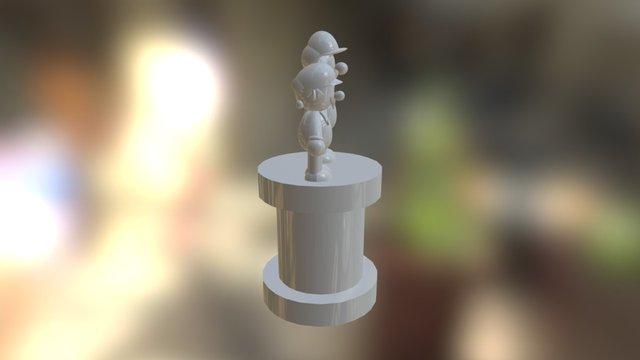 Mario & Luigi Statue 3D Model