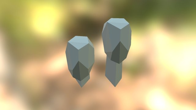 Low Poly Head (1) 3D Model