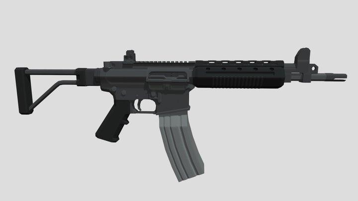 Low-Poly LR-300 3D Model