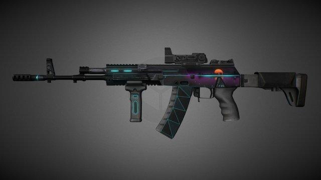 KF2 Skin : Synthwave - AK12 3D Model