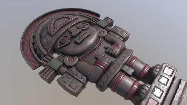 Peruvian Inti 2 3D Model