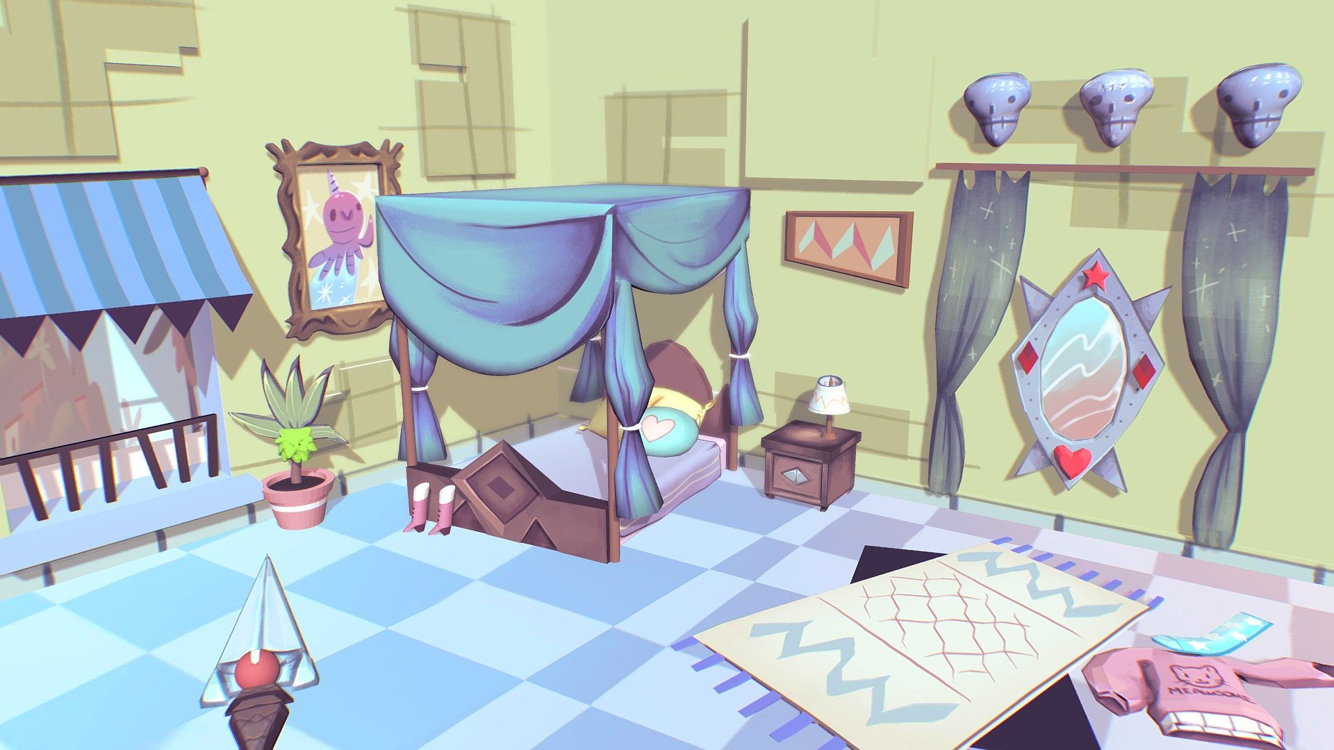 Star Butterfly Bedroom 3d Model By Stannie Stannie 93ead07 Sketchfab