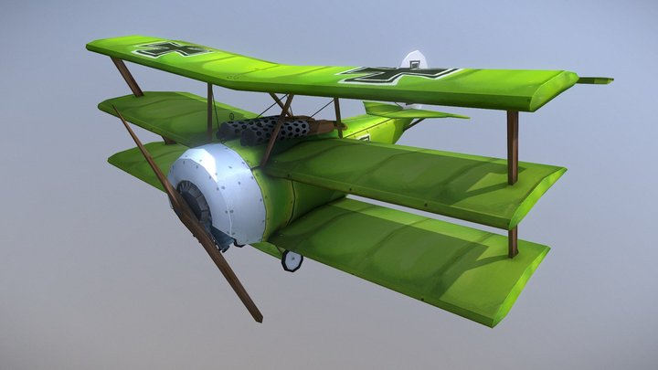 WW1 Plane 3D Model