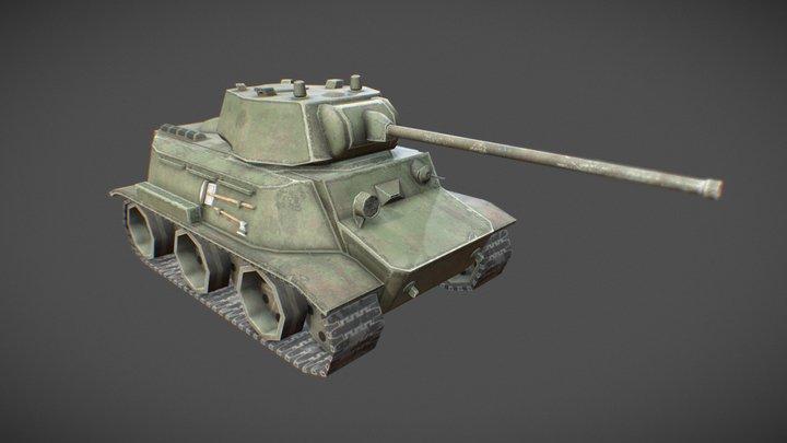 MT-25 Toon Tank 3D Model