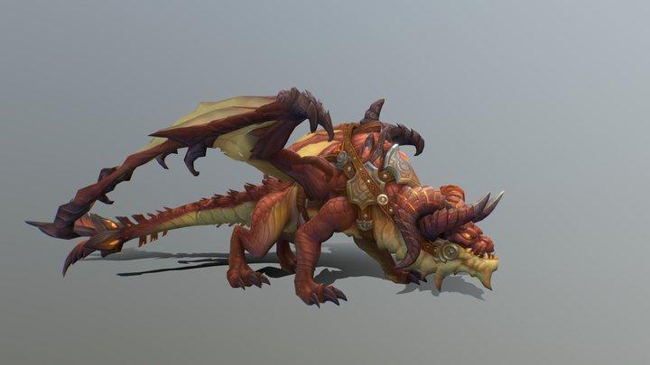 Mount Dragon Red 3D Model