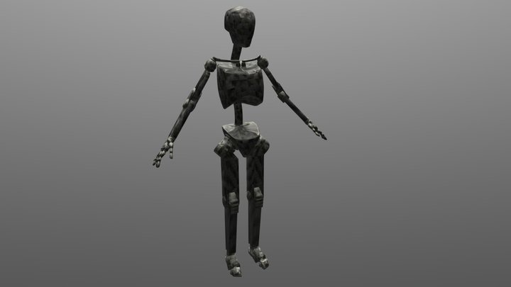 Fiddybot Robot Carbon Fibre Avatar 3D Model
