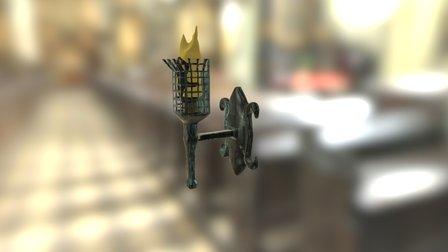 Torch Sconce 3D Model
