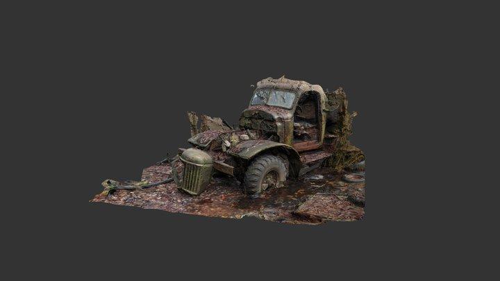 ZIL-157K - Soviet Military Truck - wreck scan 3D Model