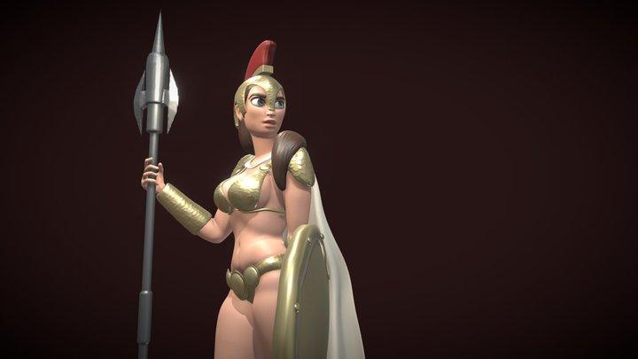 2283 - Chloe Franck - Warrior 3D Model