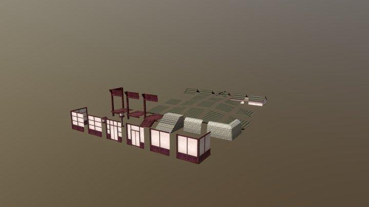 Japanese Asset Module 3D Model