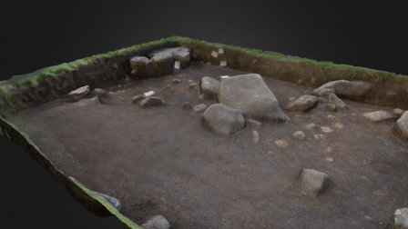 Reading The Hurlers - Archaeology Dig Trench B 3D Model