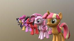 Tony's ponies 3D Model