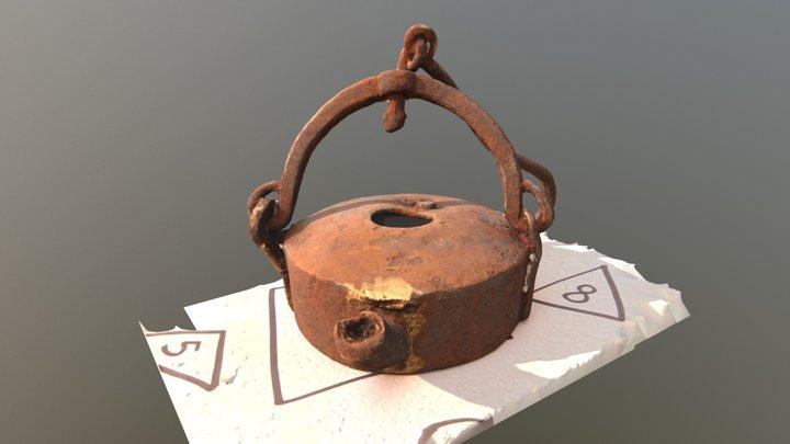 Bergbau Linsenlappe 3D Model