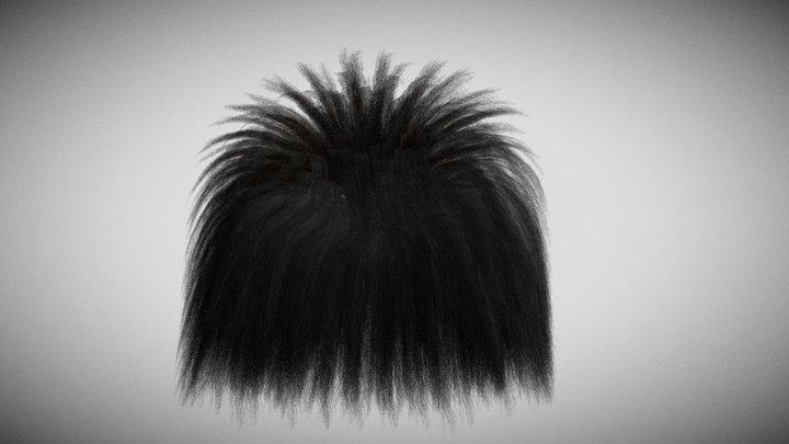 Fibers hair 3D Model