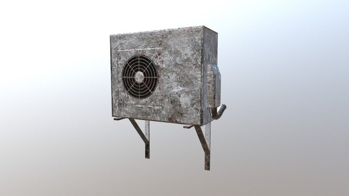 Air Conditioner Outdoor Unit 3D Model
