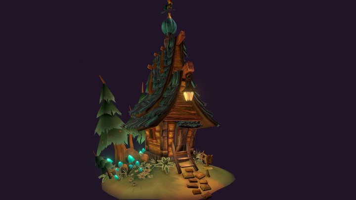 House in the Woods 3D Model