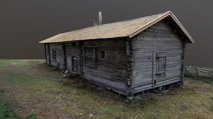 Pokkala Log house in Nousiainen, Finland 3D Model