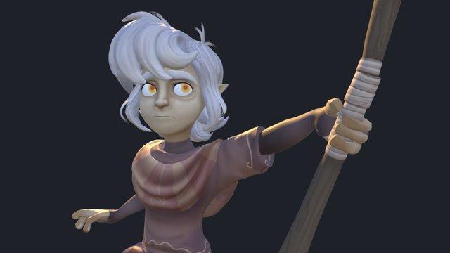 Cael - Last of the Druids 3D Model