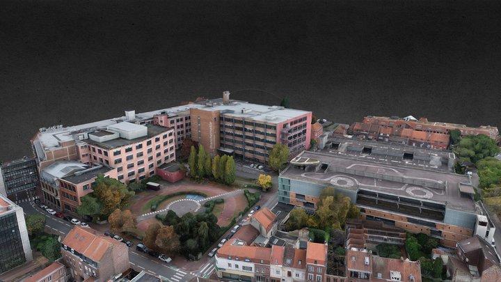 Roubaix - rue de Blanchemaille 3D Model