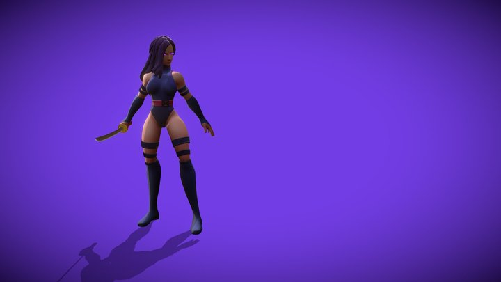 Marvel Comics - Psylocke 3D Model