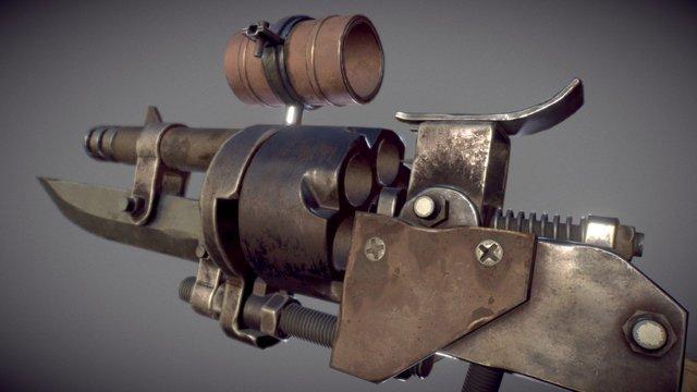 Handmade Revolver 3D Model