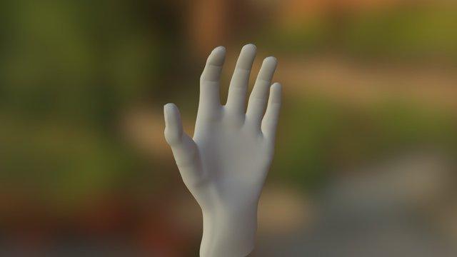 Jean-Michel main gauche 3D Model