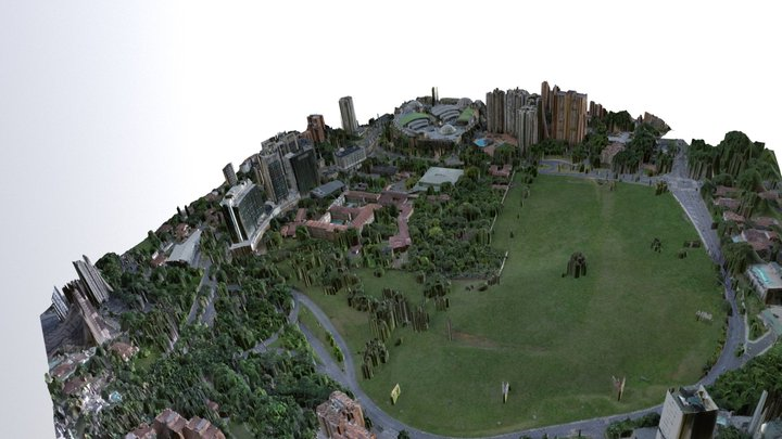 Análisis Visual Medellin Aguacatala Colombia 3D Model